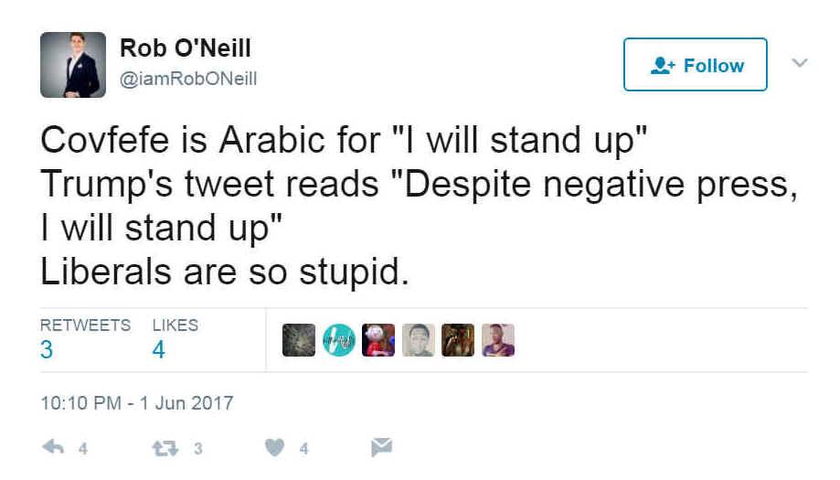 Covfefe: an Arabic sign that Trump is calling a halt? | al-bab com