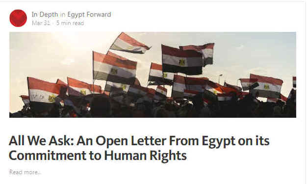 "Weber Shandwick's Egypt Forward website hailed the country's ""transformation"""