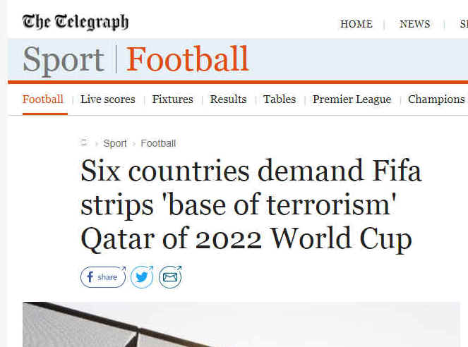 Many news organisations reported the fake story about Qatar and Fifa