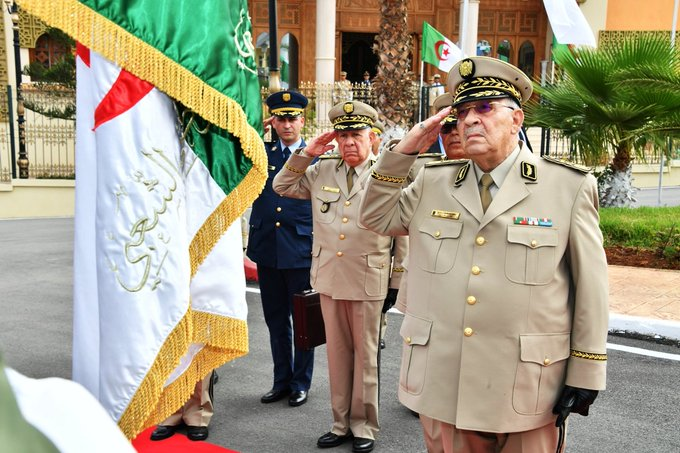 Army chief Gaïd Salah (right) says he is saving Algeria from a secret plot