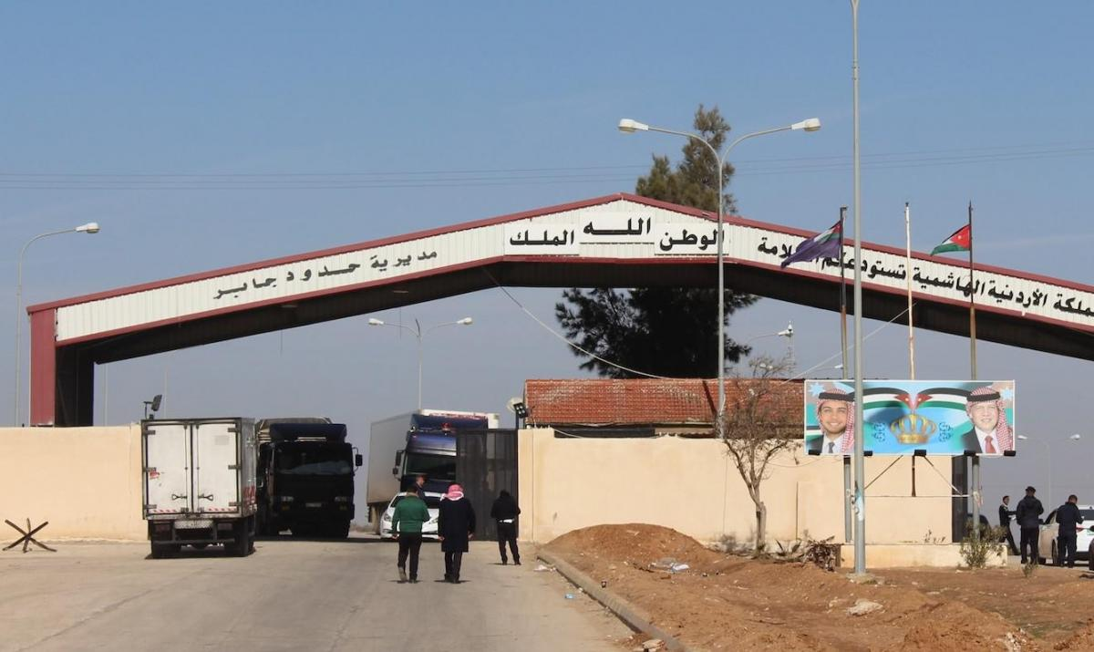 The Jaber-Nasib crossing point between Jordan and Syria. Drivers using it have tested positive for Covid-19