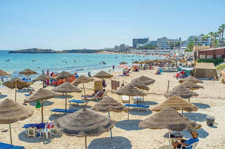 Tunisia: the beach at Monastir before coronavirus drove the tourists away