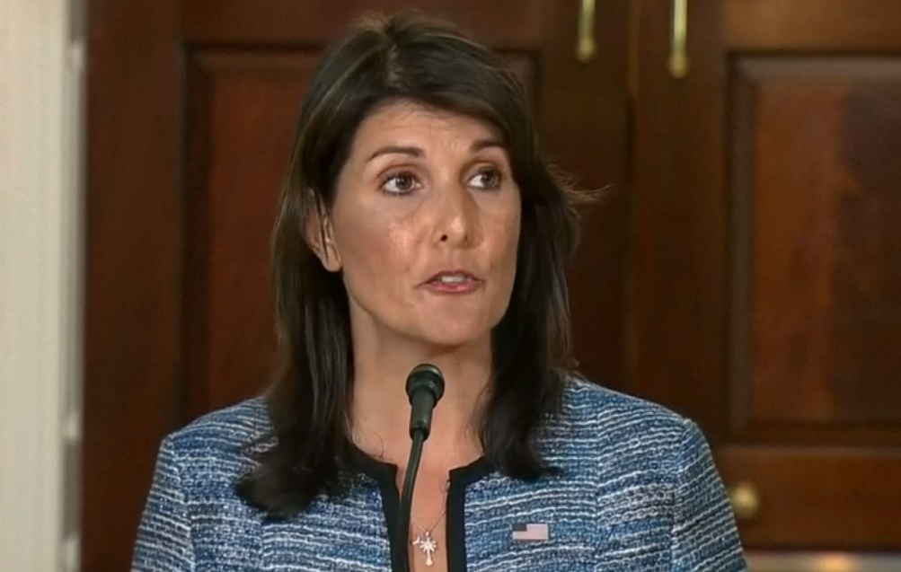 US envoy Nikki Haley announces America's withdrawal from the UN Human Rights Council
