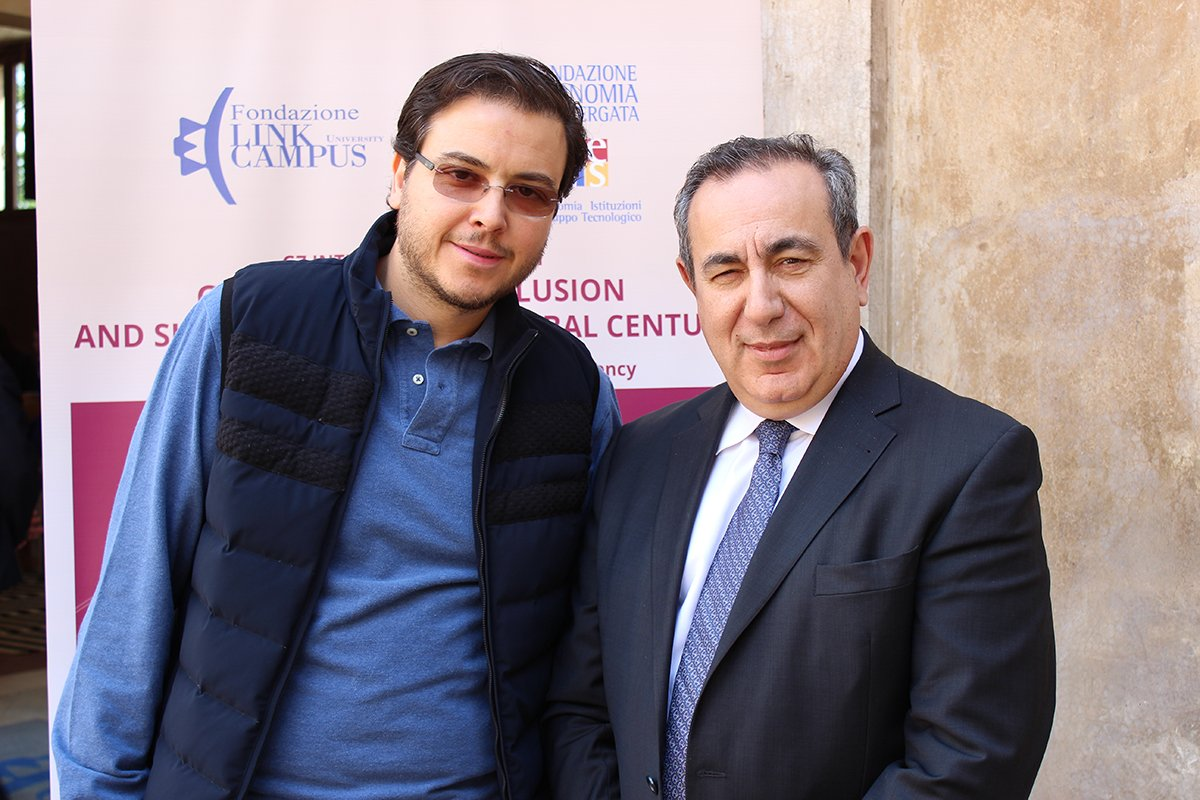 Nawaf Obaid (left) with Joseph Mifsud at Link Campus University