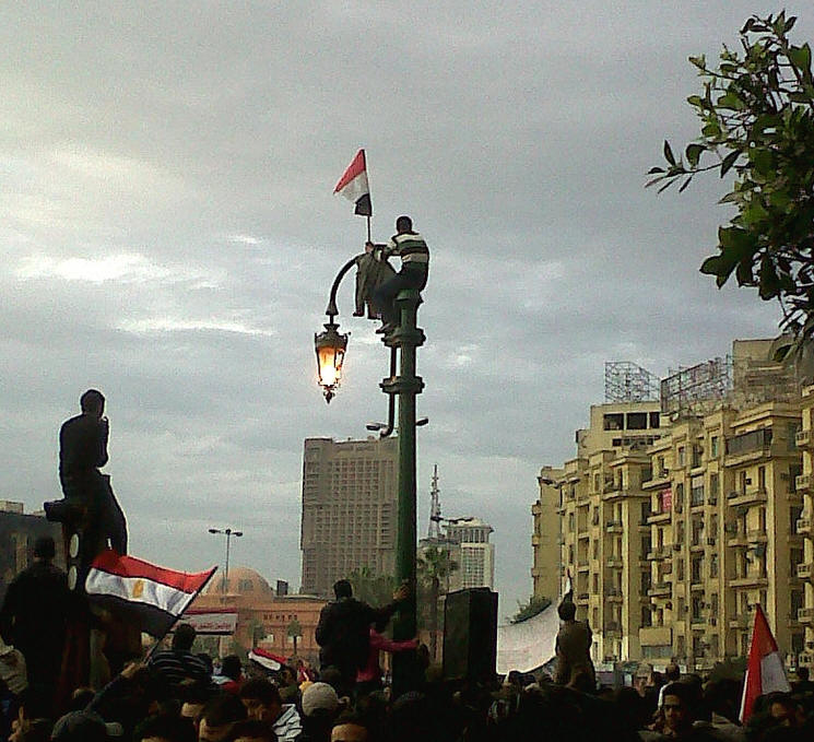 "Tahrir Square, Cairo, in 2011. Photo: <a href=""https://www.flickr.com/photos/89031137@N00/albums"">Mona</a>"